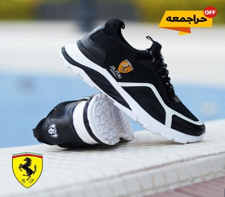 کفش مردانه Ferrari مدل JILITAi(مشکی و سفید)